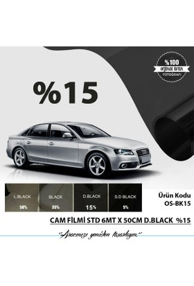 Cam Filmi Std 6Mt X 50Cm D.Black %15