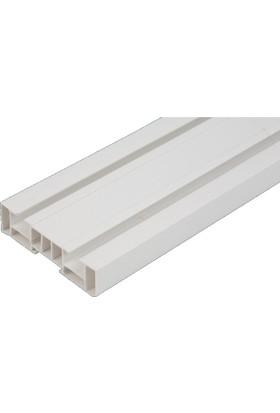 Işık PVC Düz Perde 2 Raylı Korniş 2,5 Mt
