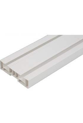 Işık PVC Düz Perde 2 Raylı Korniş 3 Mt