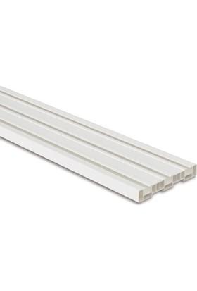 Işık PVC Düz Perde 3 Raylı Korniş 1 Mt