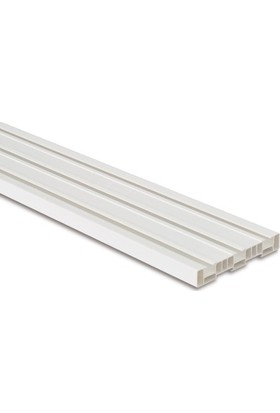 Işık PVC Düz Perde 3 Raylı Korniş 1,5 Mt