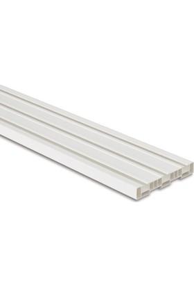 Işık PVC Düz Perde 3 Raylı Korniş 2,5 Mt