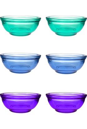 JOY GLASS 6'LI OKYANUS DÜZ KASE 10CM