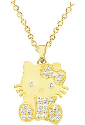 By Roma Gold Altın Minik Kedi Kolye