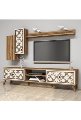 Variant Concept Class Tv Ünitesi Ceviz - Ekru