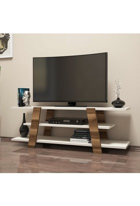 Variant Concept Flower Tv Ünitesi Ceviz - Ekru