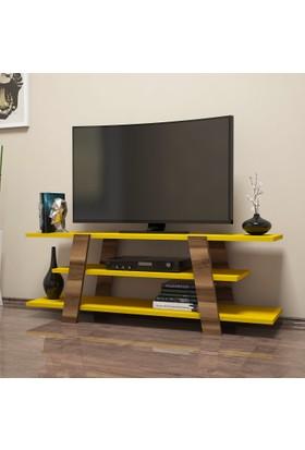 Variant Concept Flower Tv Ünitesi Ceviz - Sarı