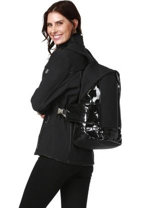 Essin Kadın Mont Sırt Çantalı Siyah