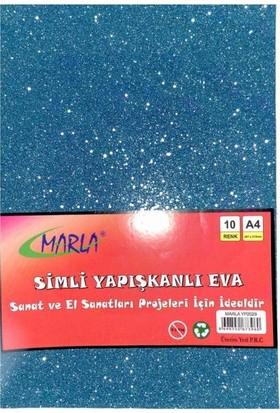 Marla Simli Yapışkanlı Eva 10 Renk A4
