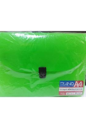 Pıano A4 13 Cep'Li Körüklü Dosya Yeşil