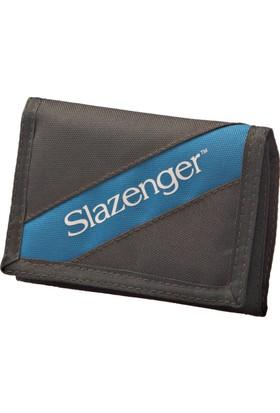 Slazenger Heze Wallet Gri Mavi Unisex Spor Cüzdan