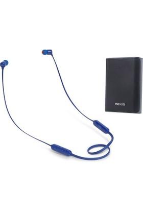 JBL T110BT CT IE Kulak İçi Bluetooth Kulaklık + Dexim DCA706 6000 mAh Çift USB Powerbank