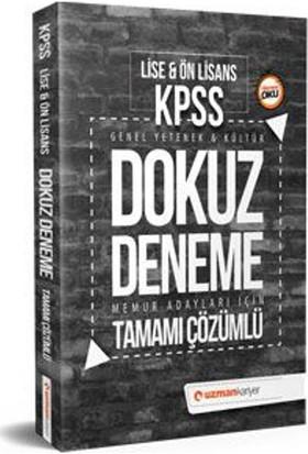2018 Kpss Lise & Ön Lisans Dokuz Deneme Tamamı Çözümlü