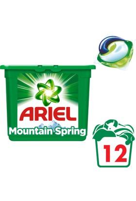 Ariel 3 ü 1 Arada Pods Sıvı Çamaşır Deterjanı Kapsülü Dağ Esintisi 12 Yıkama