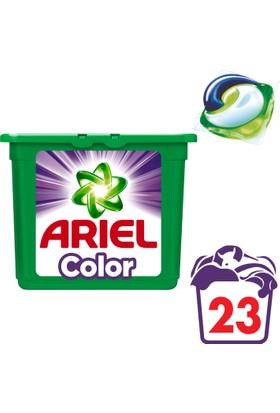 Ariel 3'ü 1 Arada Pods Sıvı Çamaşır Deterjanı Kapsülü Parlak Renkler 23 Yıkama