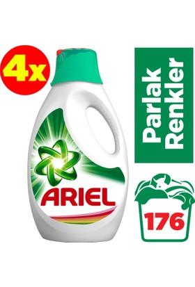 Ariel Sıvı Çamaşır Deterjanı Parlak Renkler 44 Yıkama 4'lü Paket