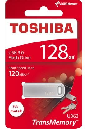 Toshiba 128Gb Usb 3.0 120 MB/s Yüksek Okuma Hızı Mini Metal Usb Bellek THN-U363S1280E4
