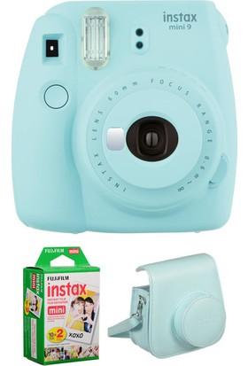 Fujifilm İnstax mini 9 + Çanta + 20'Li Film Buz Mavisi Set