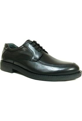 Ales 4637 Siyah Bağcıklı Erkek Ayakkabı