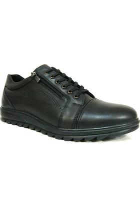 Dropland 5177 Siyah Bağcıklı Fermuarlı Casual Erkek Ayakkabı