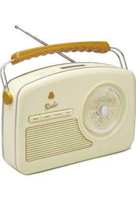 Gpo Rydell 4 Band Retro Dizayn Radyo Krem