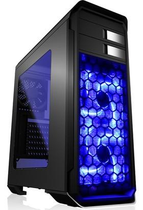 Aerocool Aero500 700W 80+ 3 Fanlı Fan Kontrolcülü USB 3.0 Pencereli Mavi Ledli Siyah ATX Bilgisayar Kasası (AE-AERO500-700)