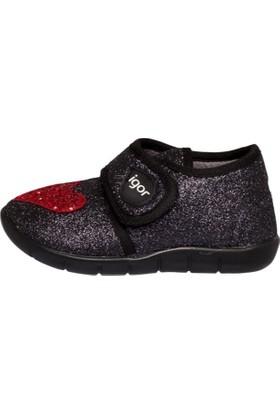 Igor Kız Çocuk Ev Ayakkabısı, Snoopy Exclusive Siyah/Kırmızı