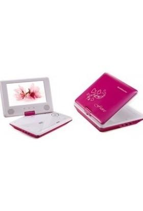 Goldmaster FİORE Portable DVD Oynatıcı (PEMBE)
