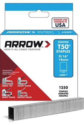 Arrow AR509 14mm 1250 Adet Profesyonel Zımba Teli