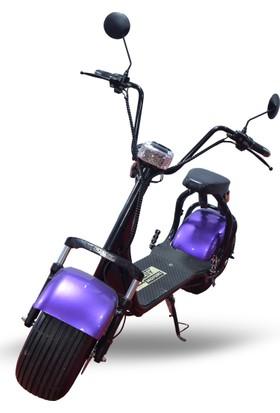 Quality Motors Elektrikli Scooter- Metalik Mor - E Scooter