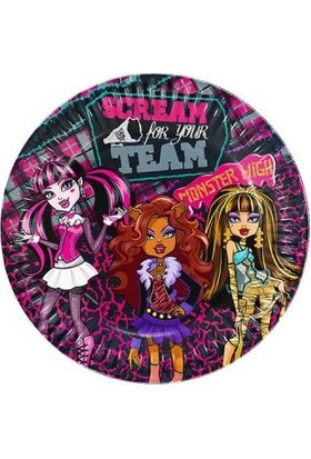 Hepsi Dahice Monster High Orijinal Lisanslı 8 Adet 23 cm Tabak