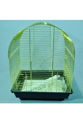 Qh Pet Cage Qh Kuş Kafesi Pirinç Kaplama (34.5 X 28 X 45.5)