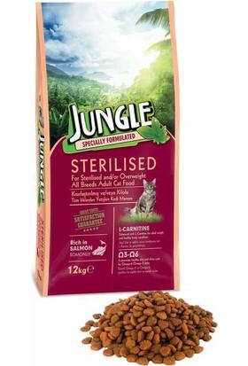 Jungle 12 Kg Sterilesed Somonlu Kısır Kedi Maması