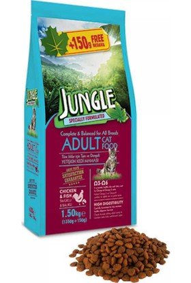 Jungle 1,5 Kg Tavuk-Balıklı Yetişkin Kedi Maması