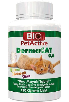 Pet Active Biopetactive Dermacat Brewers 150 Tablet
