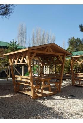 Tekzen Çatılı Piknik Masası 8 Kişilik