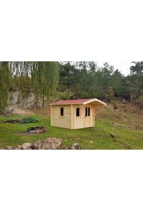 Tekzen Ahşap Bağ Evi 12 m2 - Naturel