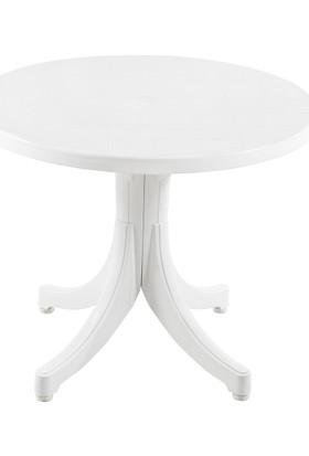 Papatya Favori Yuvarlak Masa Beyaz