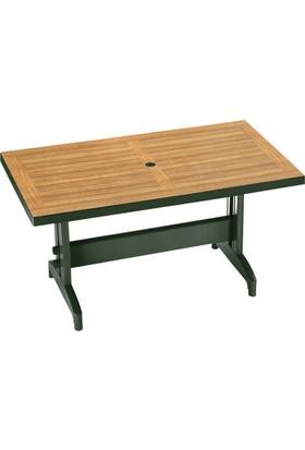 Papatya Dıva Masa Plastik Koyu Yeşil