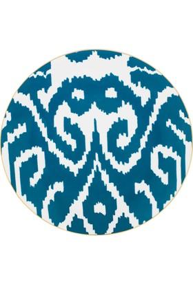 Zm Decor Ikat Petrol Mavı Dubaı 28 Cm