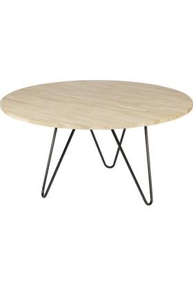 Woodha Masif Yemek Masası Circle