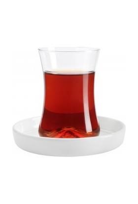 Koleksiyon Tiryaki Çay Seti 6Lı Beyaz