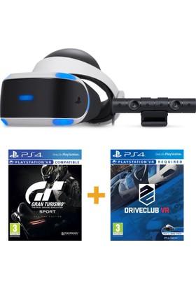 Sony PlayStation 4 VR Sanal Gerçeklik Gözlüğü + Kamera + VR Gran Turismo Sport + VR Driveclub