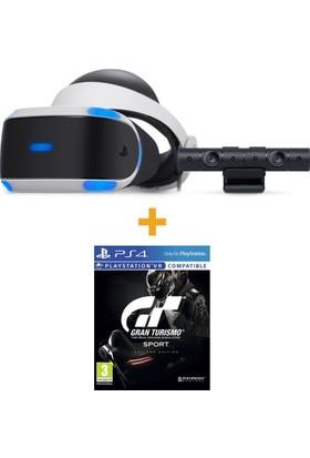 Sony PlayStation VR Sanal Gerçeklik Gözlüğü + PS4 Kamera + Gran Turismo Sport