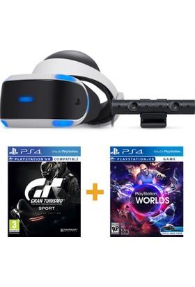 Sony PlayStation VR Sanal Gerçeklik Gözlüğü + PS4 Kamera + Worlds VR + Gran Turismo VR