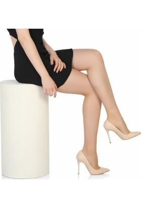Sothe Ba-1021 Kadın Ten Deri Topuklu Stiletto