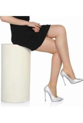 Sothe Ba-1022 Kadın Gümüş Lavezzi Topuklu Stiletto
