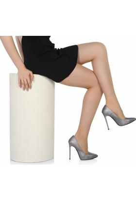 Sothe Ba-1022 Kadın Platin Lavezzi Topuklu Stiletto