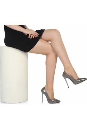 Sothe Ba-1022 Kadın Platin Parlak Topuklu Stiletto