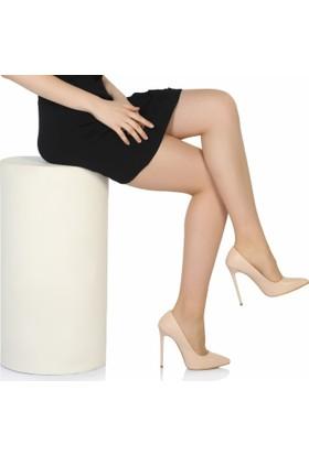 Sothe Ba-1022 Kadın Ten Deri Topuklu Stiletto